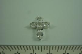 [ 0525 ] Kruis 25 mm. met Zirkonia steentjes, per stuk