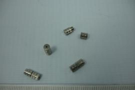 [5429 ] Draaislotje, 10 mm. Chroomkleur, 4 stuks