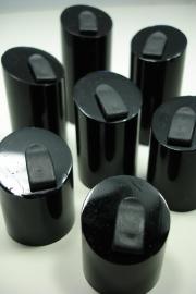 *[ 9132 ] Set van 7 stuks Ringen displays, Zwart.