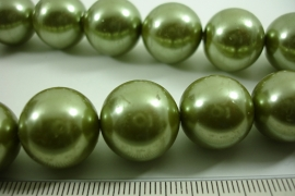 [ 6565 ] Glas Kraal 16 mm. Groen, 25 stuks