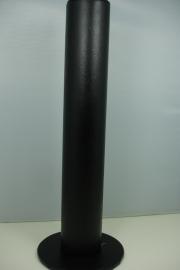 *[ 9172 ] 1 Arm rol Rechtop staand 30 cm. Zwart Leer, per stuk