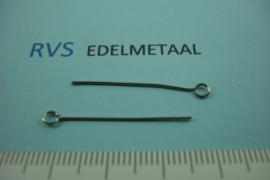 [ 8354 ] RVS, Ketelstift 30 mm. per 40 stuks