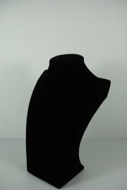 *[9037 ] Hals Luxe Zwart Fluweel, Klein 25 cm.