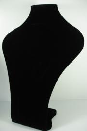 *[9040 ] Hals strak Zwart Fluweel, Groot 40 cm.