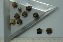 [5363 ] Lintklem 6 mm. Brons, 10 stuks