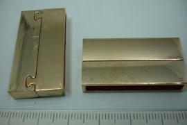 *[ 0788 ] Magneet slot 37 x 19 mm. Rosé Koper, per stuk