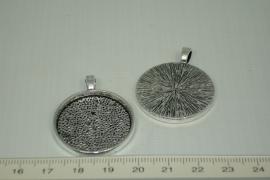 [0324 ] Cabochon houder metaal Chroom  30 mm.