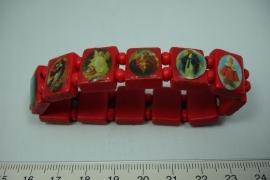 [5735 ] Geluks armband Rood, per stuk