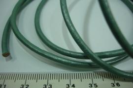 [ 6766 ] Echt DQ Leer 3 mm. Groen, per meter