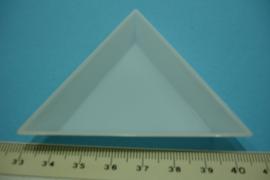 [ 7094 ] Kralen schuif bakje 7½ x 7½x 7½ cm. Wit Kunsstof
