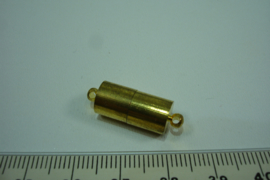 [ 0479 ] Magneet slot 17 x 8 mm. Goud kleur mat, per stuk