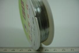 [ 6384 ] Koperdraad 0.4 mm. Verzilverd, 40 meter