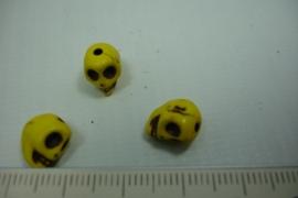 [0751 ] Doodshoofd 10 mm. Geel, per stuk