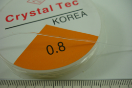 [ 8503 ] Elastich nylon 0.8 mm. extra sterk, per rol 10 meter