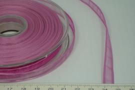 [8076 ] Organza lint  Roze  per Meter