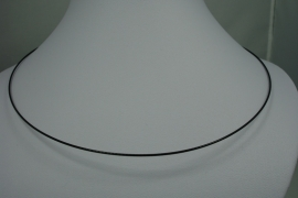 [0712 ] Spang Zwart 47 cm. met glad draai slot, per stuk
