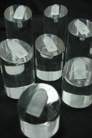 *[ 9138 ] Set van 7 stuks Ringen displays, Helder.