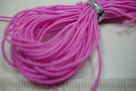 [ 6137 ] Elastiek 1 mm. Roze, +/- 4.5 meter