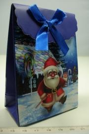 [ 5950 ] Kerst verpakking 7.5 x 10 cm. Kerstman in de sneeuw, per stuk