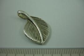 [ 1255 ] Gesloten Blad  28 x 16.5 mm. Zilverkleur, per stuk