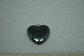 [0633 ] Hematiet Hartje gesloten,  20 mm.