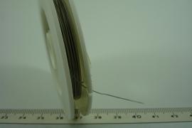 [6554 ] Acculon 0.45 mm. Zilver grijs, 10 meter