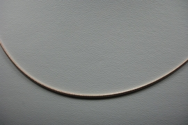 [ 6270 ] Gladde ketting 42 cm. Licht Rosé, per stuk