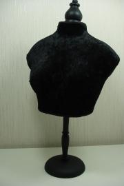 *[ 9212 ] Buste op stok, Zwart Fluweel, 50 cm.