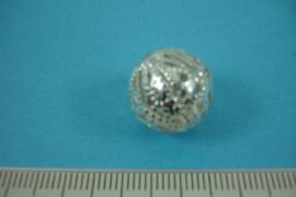 [ 6813 ] Filigrein kraaltje 15 mm. Verzilverd, per stuk