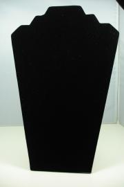 *[ 9236 ] 2 traps Klap Hals Zwart Fluweel 32 cm. per stuk