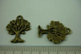 [ 1242 ] Levensboompje  22 x 16.6 mm. Brons, pe stuk
