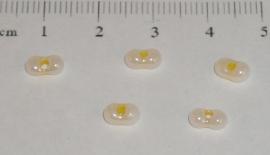 (5193) Duo rocailles pastel geel nr. 97. 50 stuks.