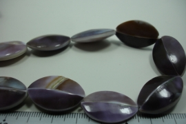 [ 10003 ] Tijger shell Purple 25 x 15 x 7 mm. per streng
