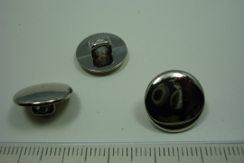 [ 0903 ] sluit Knoop 15 mm. Kunstof, Zilver, per stuk
