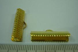 [ 6395 ] Lintklemmen 22 mm. Goud, 6 stuks