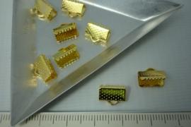 [5369 ] Lintklem 10 mm. Goudkleur, 8 stuks