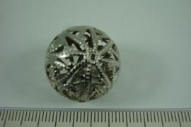 [ 6835 ] Filigrein Kraal 20 mm. Crome, per stuk