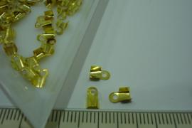 [ 7128 ] Veterklem 5 x 3 mm. Goudkleur, +/- 50 stuks