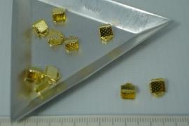 [5365 ] Lintklem 6 mm. Goudkleur, 10 stuks