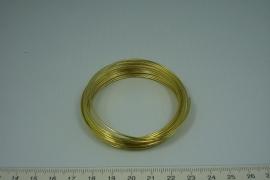 [6042 ] Memory draad 1 mm. dik, Goudkleur, 25 rings