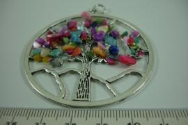 [ 6631 ] Levensboom 6 cm. met Chakra kleuren, per stuk