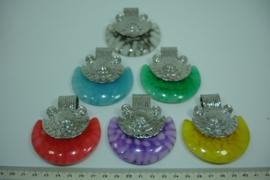 +[ 8746 ] Epoxi hangers 7 cm.  per 6 stuks in verschillende kleuren.