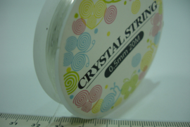 [ 6616 ] Elastisch Nylon 0.5 mm. Crystal helder, rol 18 meter