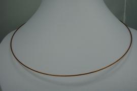 [0720 ] Spang 47 cm. Goud/Bruin, met Draai slot,  per stuk