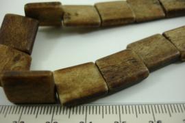 [ 6989 ] Hoorn kralen 14 x 13 mm. Bruin, per +/- 26 stuks