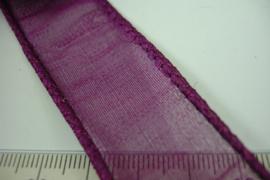 [ 6881 ] IJzerdraad lint 2 cm. Donker Roze, per 5 meter lengte