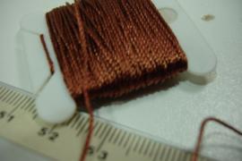 [5662 ] Nylon koord 0.6 mm. Bruin/Koperkleur, 10 meter