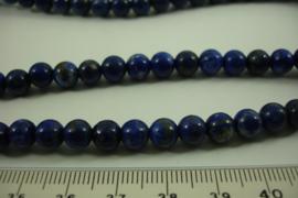[ 8499 ] Lapis Lazuli  6 mm.  per streng 39 cm.