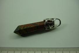 [ 0978 ] Pendel +/- 4.5 cm. Natuursteen; Jaspis, per stuk