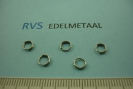 [ 8538 ]  RVS  Splitring 5 mm.  per 35 stuks